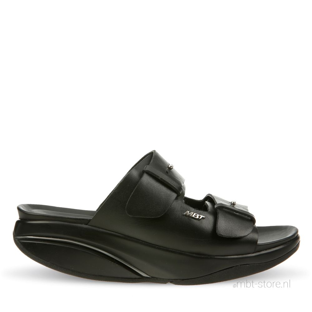 Kimana w black nappa slipper