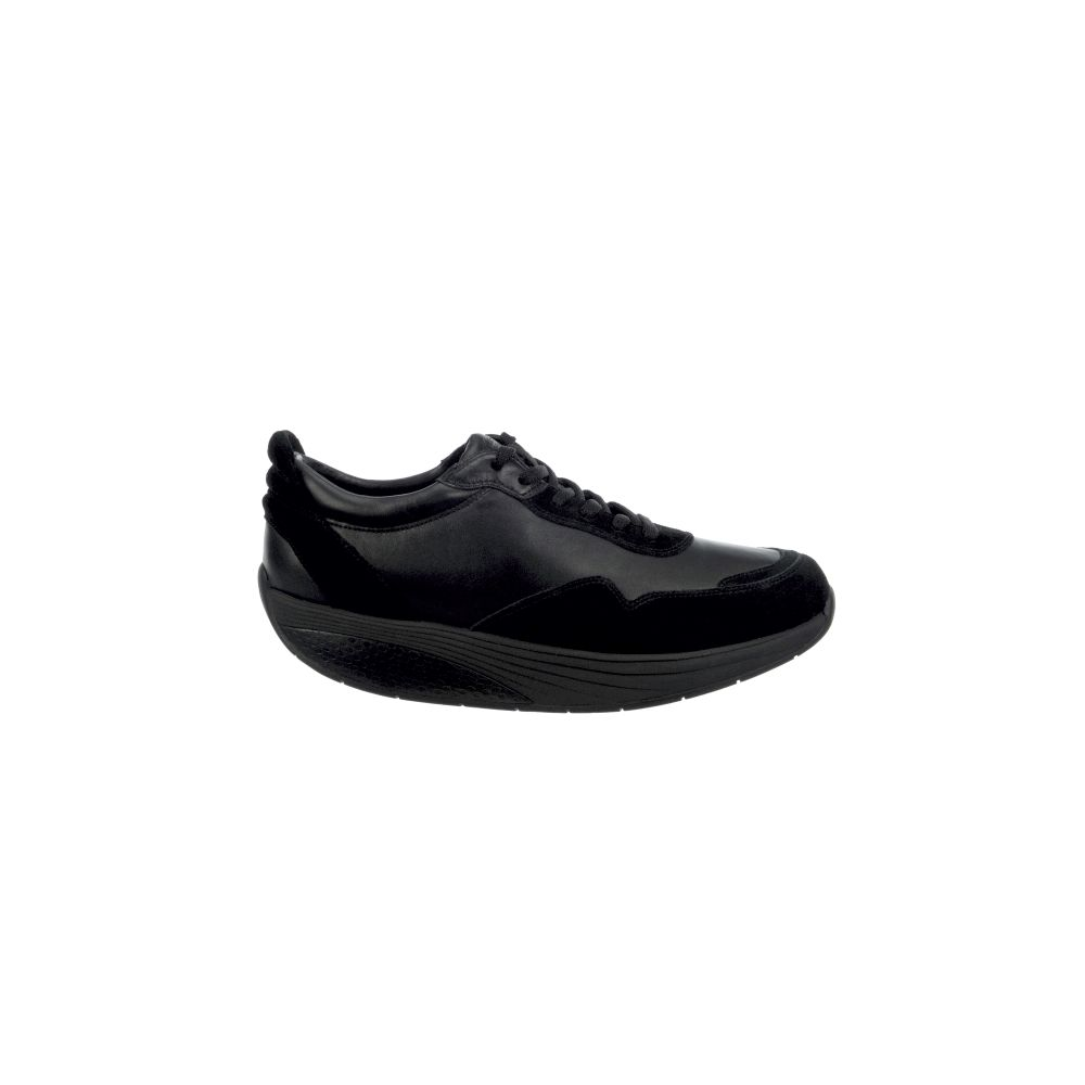 Azizi Walk Lite lace up black calf