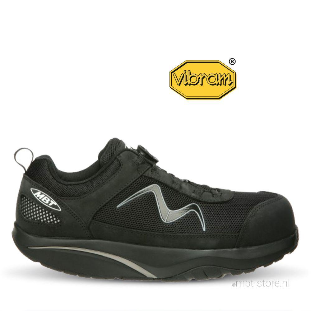 Safety black Omega trainer work shoe